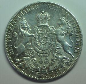 mw16003 German States Hannover; Silver Thaler 1861-B  George V 1851 - 1866