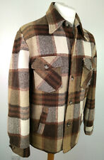 Sears Outerwear Check Jacket Faux Fur Lined Vintage 70s Size 42 Reg