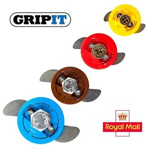 YELLOW 15mm, RED 18mm, BROWN 20mm, BLUE 25mm GRIPIT WALL FIXINGS GRIP IT PLUG