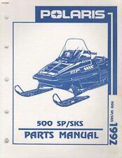 1992 POLARIS SNOWMOBILE 500 SP/SKS PARTS MANUAL 9912126 (131)