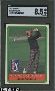 1981 Donruss PGA Tour Golf Jack Nicklaus RC Rookie SGC 8.5 NM-MT+