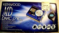 VINTAGE KENWOOD MINIDISC WALKMAN PLAYER RECORDER DMC-J7R, BLUE COLOR
