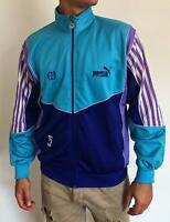 Vintage PUMA Track Jacket Men Size L Blue Purple Lilac