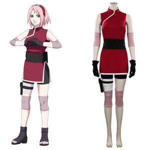 Naruto0 Haruno Sakura Cosplay Costume Halloween Outfit Suit