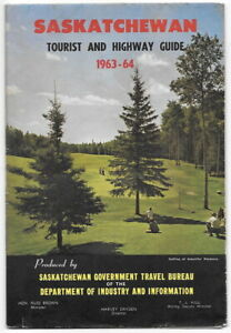 Saskatchewan  Tourist and Highway Guide  1963-64  Fold out Map And Guide Canada