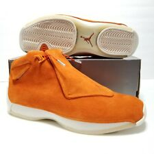 Size 13 Nike Air Jordan 18 XVIII Retro Campfire Orange Suede AA2494-801 Mens