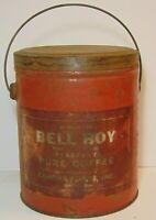 Rare Old Vintage 1940s CANOVA BELL BOY COFFEE TIN 3 POUND MEMPHIS TENNESSEE TN