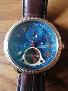 Constantin Weisz offenes Herz Dual Zeit Automatische 17b338cw Watch & Tragetasche