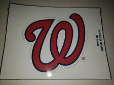 Washington Nationals Curly W Car Magnet +2019 topps card from world series yr