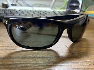 Vintage Ray Ban Balorama Wrap Sunglasses B&L Ace Ventura Black Bausch Lomb Pet