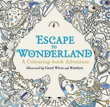 Adult Colouring Book Escape to Wonderland Alice Coloring In Aussie Stock Zen