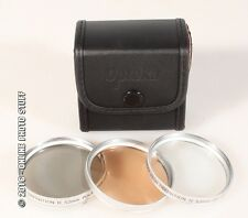 52MM POLARIZER, UV AND FD FILTERS, NEW IN CASE