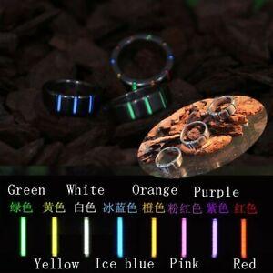 TA2 Pure Titanium w/ Tritium Tube Finger Ring Self-Illumination Light Pendant