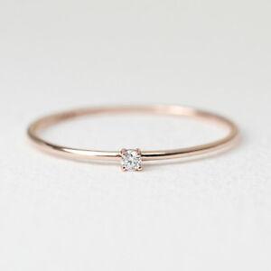 4 Prong Diamond Wedding Engagement Band Solitaire Diamond Ring