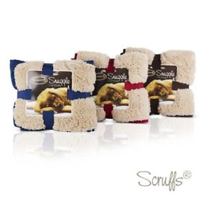 Scruffs Pet Snuggle Blanket Dog  Reversable Red / Brown /Blue  /tan /Winter won