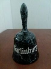 Gatlinburg collectible bell small black marbled finish with white clacker