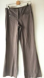 Express Editor Womens 6 Regular Stretch Cotton Khaki Chino Pants Brown Boot Cut