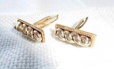 Latvian men's jewelry. Elegant Namejs 14 K yellow gold cuff links.