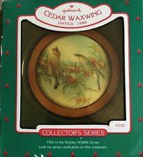 Hallmark Wildlife Collector Series Cedar Waxwing 1986 Ornament Decoration New #N