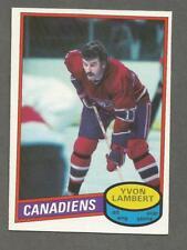 1980-81 O-Pee-Chee OPC Hockey Yvon Lambert #246 Montreal Canadiens NM/MT