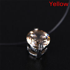 Invisible Transparent Fishing Line Zircon Pendant Necklace Choker Women Jewelry0 Red
