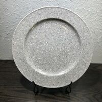 "Mikasa Ultrastone Gray Dinner Plate 11 1/8"" CU726 Retired Pattern Japan"