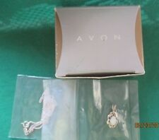 "AVON*STERLING SILVER OPAL NECKLACE*PENDANT IS 3/4""LONG*NEW IN BOX SEALED*1996**"
