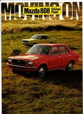 1971 MAZDA 808 SEDAN & COUPE 4 Page Japanese Brochure in English