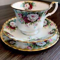 Royal Albert CELEBRATION - Tea Trio Set (Cup, Saucer, Bread/Butter Plate)