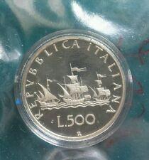 monete 500 lire caravella Proof 1994