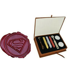 Vintage Superman Wax Seal Stamp Set Box with 3pcs Wax Christmas Gifts vbn
