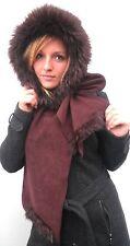 Damen Mütze Schalmütze Capuchon Braun Wintermütze warm elegant Kunstfell