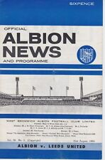WEST BROMWICH ALBION v LEEDS UNITED ~ 31 AUGUST 1966
