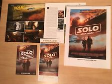 STAR WARS SOLO Presseheft press kit KRIEG DER STERNE Han FALCON / KEIN Poster