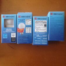 100 (2 CASES) NEW: LED Dimmable  Bulbs: 120V 60HZ 3000K Warm White 450 lumens