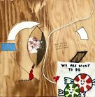 WAIT TO BE SEATED Collage Art Heart Mint Painting - Steven Tannenbaum TAO-e