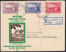 Australia 1937 Nsw registered commem Fdc.3729