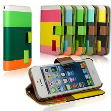 Wallet Cover Apple iPhone 4 4s Case Magnetic Flip PU Leather Holder Shell Bag