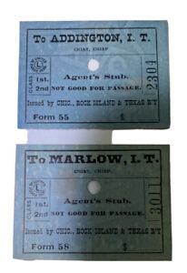 Vintage Indian Territory Agent Stuns Addison And Marlow Chic Rock Island RR