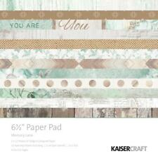 Memory Lane Collection 6.5 in Paper Pad Scrapbooking Kit Kaisercraft PP1043 New