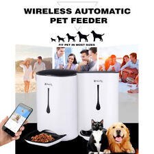 NEW 6.5L Wireless Automatic Pet Feeder Dog Cat Food Dispenser Smart iOS Android