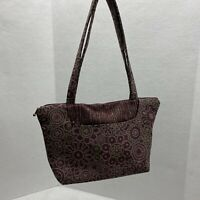 Maruca Handmade In Boulder CO Tapestry Tote Bag Maroon & Green