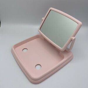 Mary Kay Pink Makeup Mirror 2 Sided w/ Magnification Fold Away for Travel