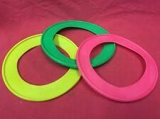 "Dog Toy X 3 Fling Ring Throw Fetch Toy MULTI 8.5""  frisbee Exerciser Soft Vinyl"