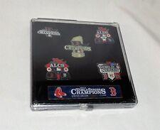Boston Red Sox 2013 World Series Champions 5 Pin Set Limited Edition FREESHIP
