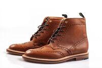NPS 6 Eye Brogue Boot Mahogany Made in England 12 UK EU 47