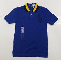 New with tag NWT Boys RALPH LAUREN Blue Short Sleeve POLO Shirt S (8) Big Pony