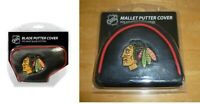 Chicago Blackhawks NHL Blade & Mallet Putter Golf Club Head Cover Embroidered