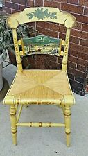 Hitchcock Hand Painted 1986 Christmas scene accent chair limited number