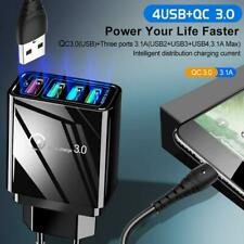 4 Ports USB UK Plug Fast Charging Smart Mobile Phone Wall Charger Adapter Q2.0